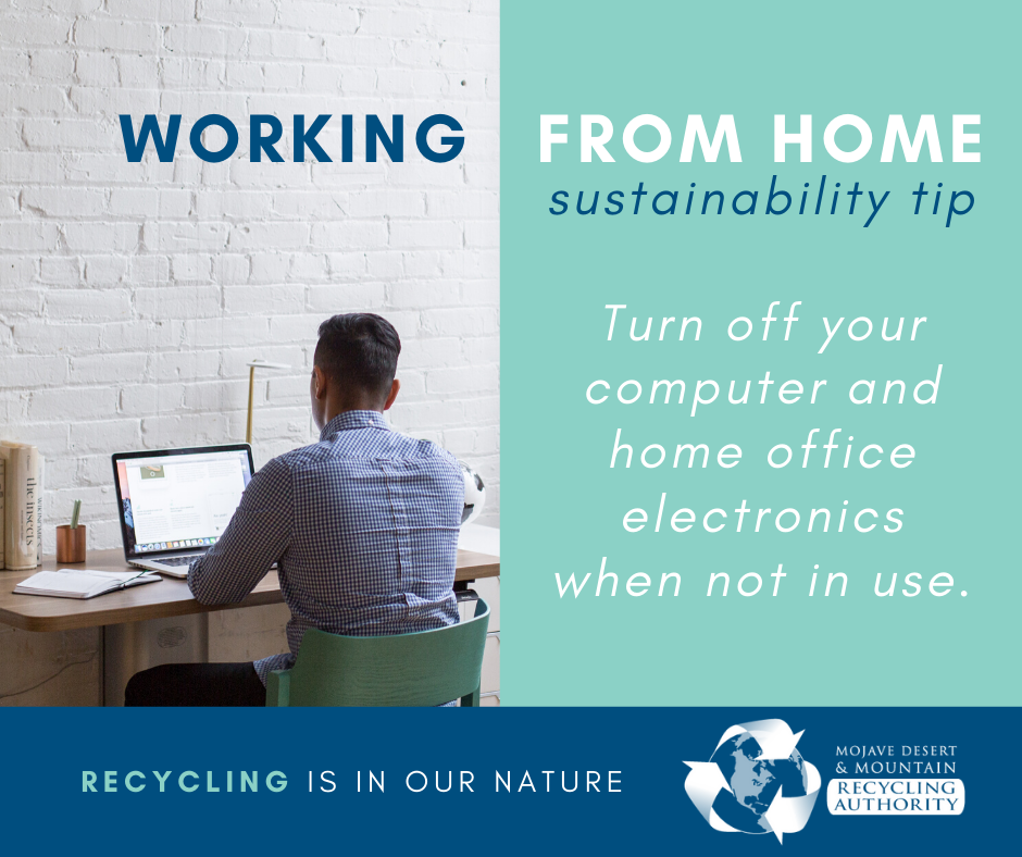Work from home sustainably