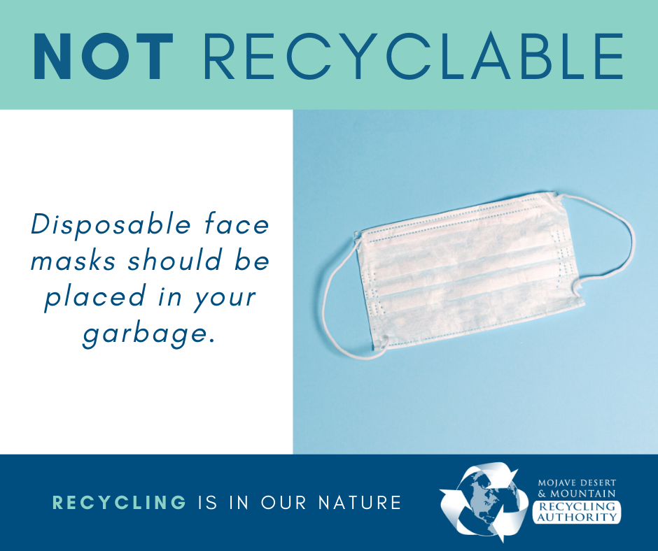Disposable masks are not recyclable