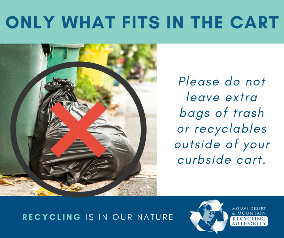 Do not overfill your curbside collection carts