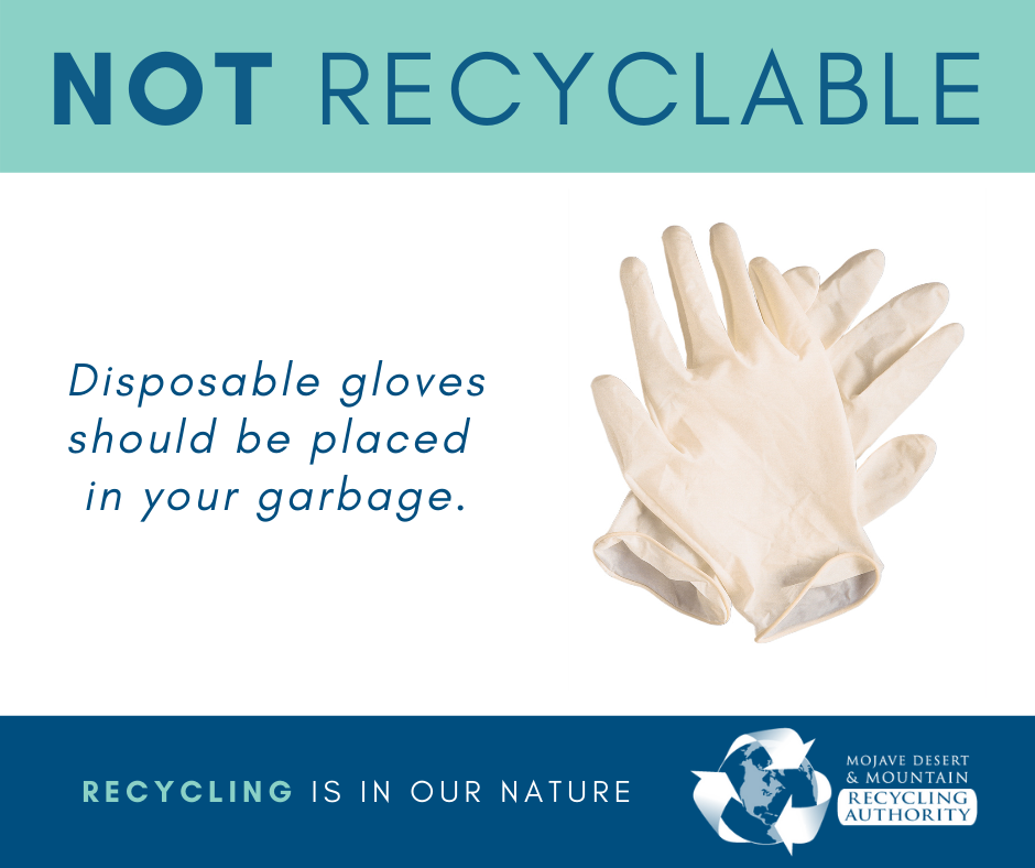Disposable Gloves Go In The Trash