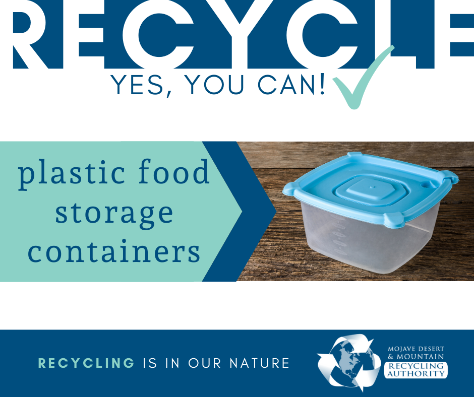 Plastic Food Storage Containers are Recyclable