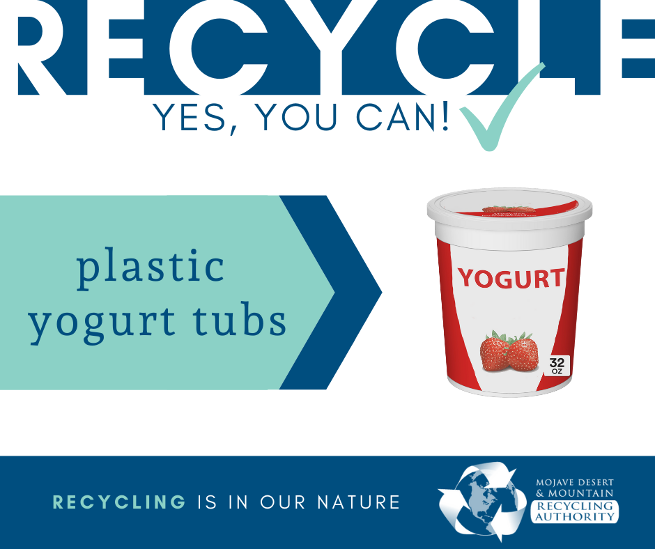 Plastic Yogurt Tubs are Recyclable