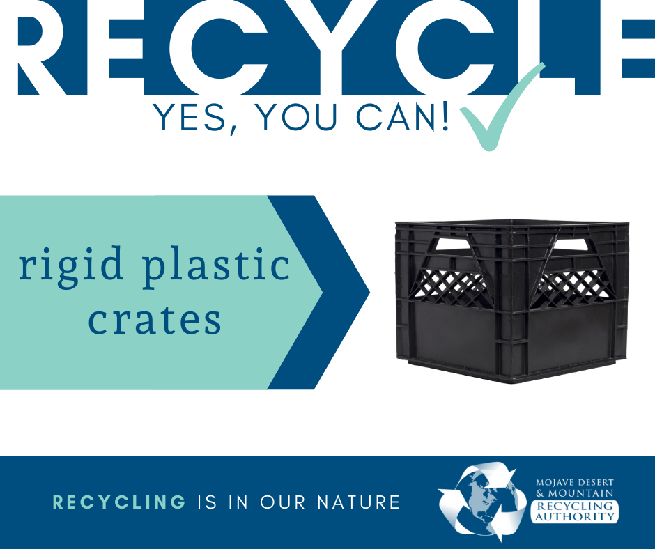 Rigid Plastic Crates are recyclable