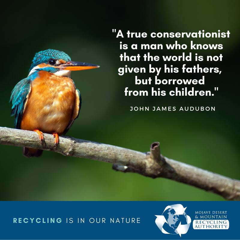 Audubon Quote May 2020