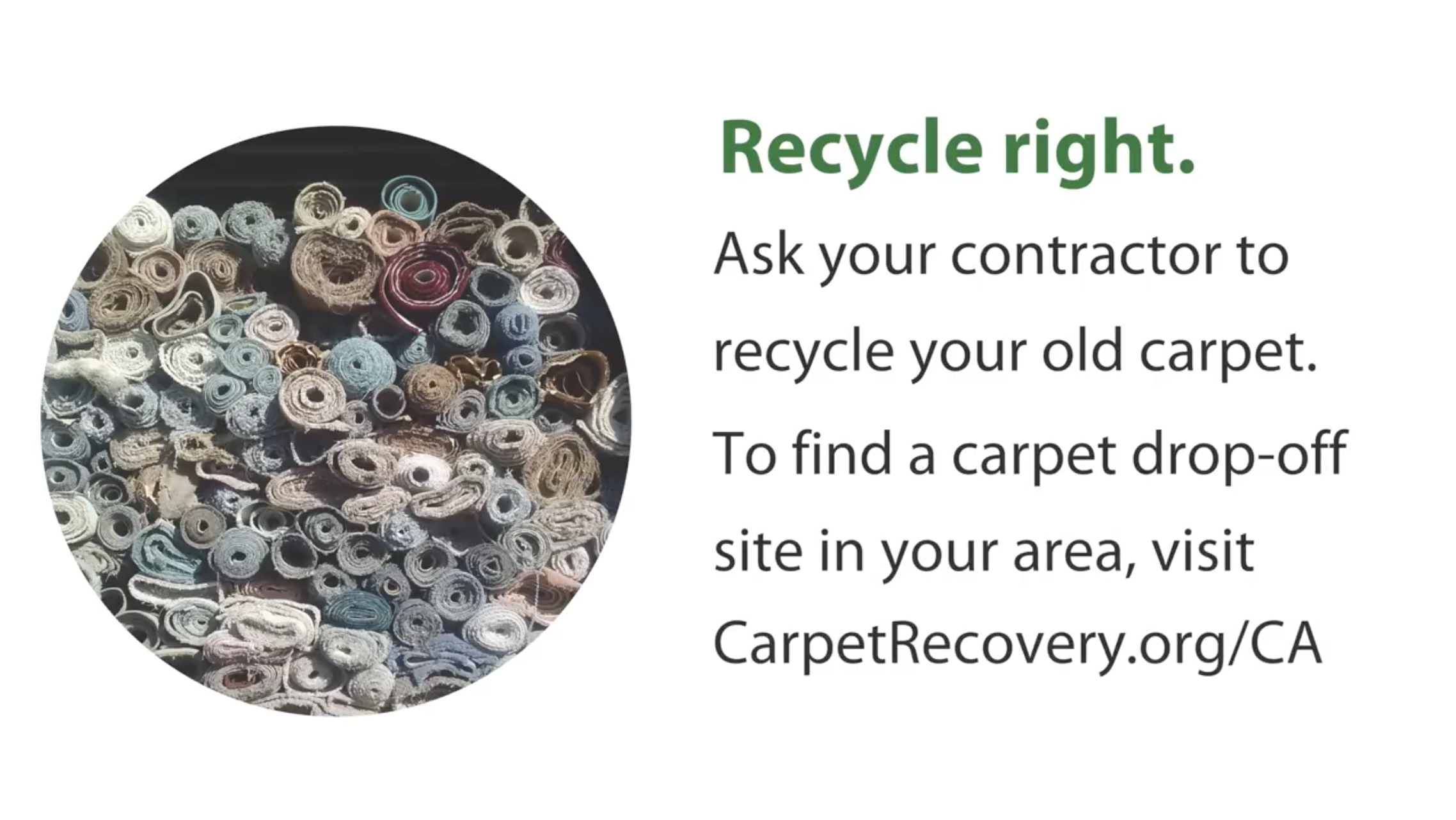 Recycle your carpet when remodeling
