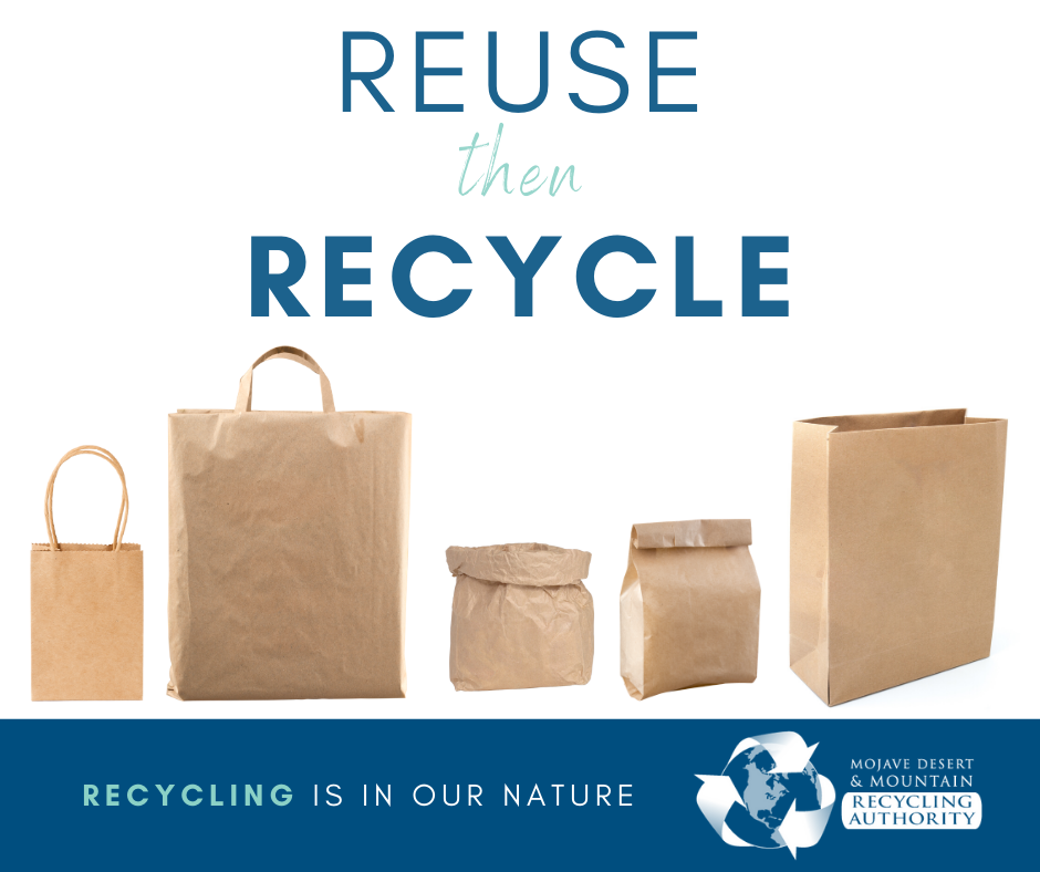 Reuse Then Recycle Paper Bags