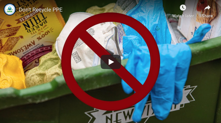 EPA Recycling Reminder During COVID-19