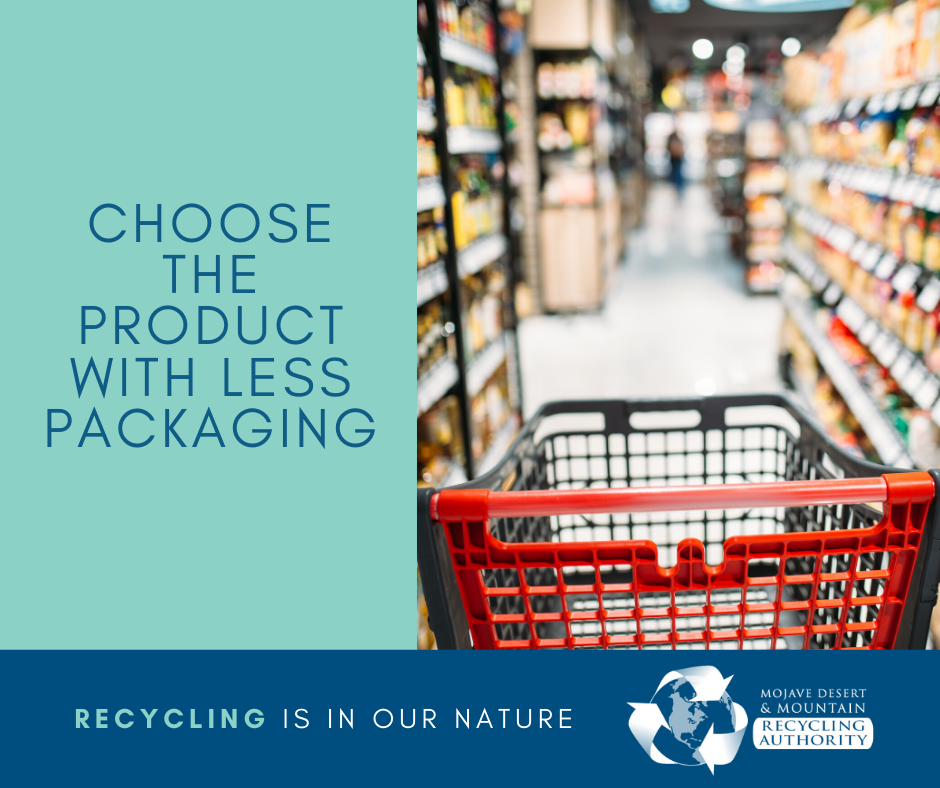 Choose Products with Less Packaging