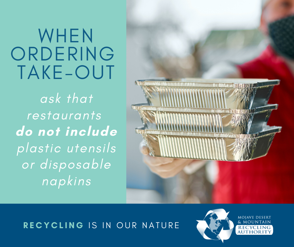 Ordering Take Out - Ask for no plastic