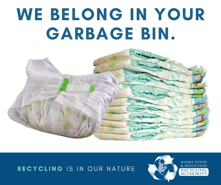 Diapers Go in Garbage