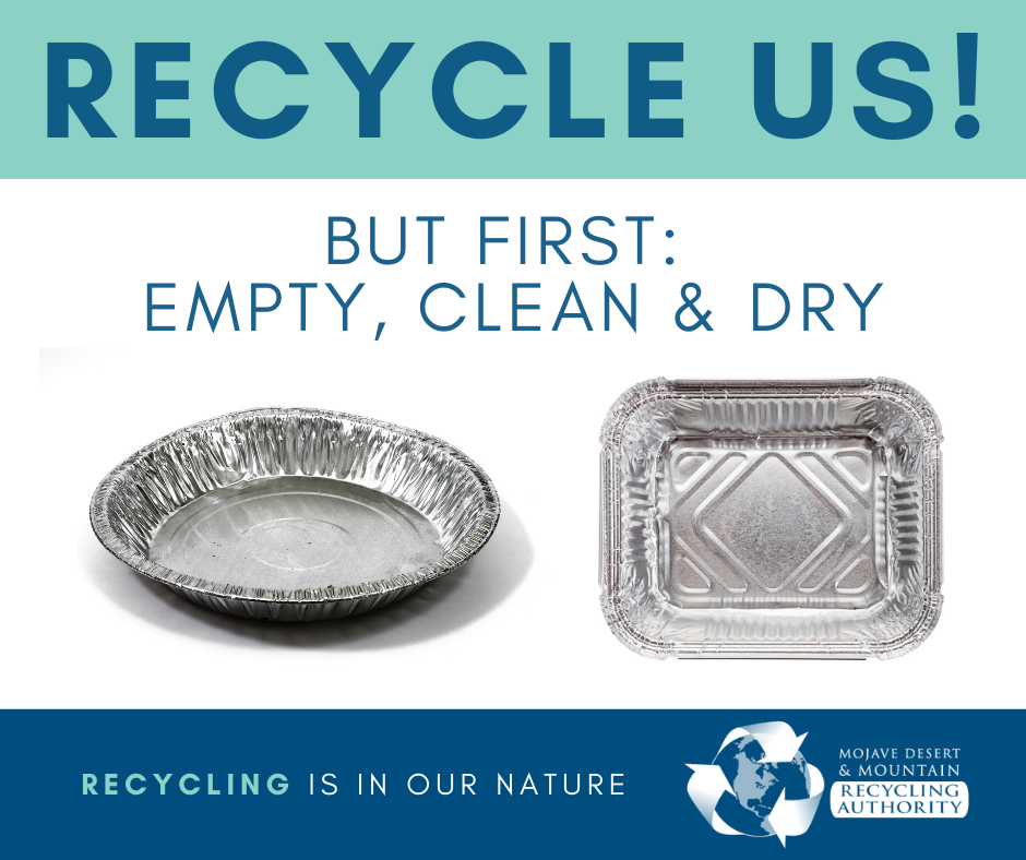 Aluminum Trays are Recyclable