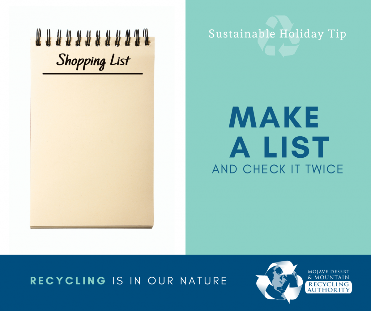 Holiday Tip: Stick to the List
