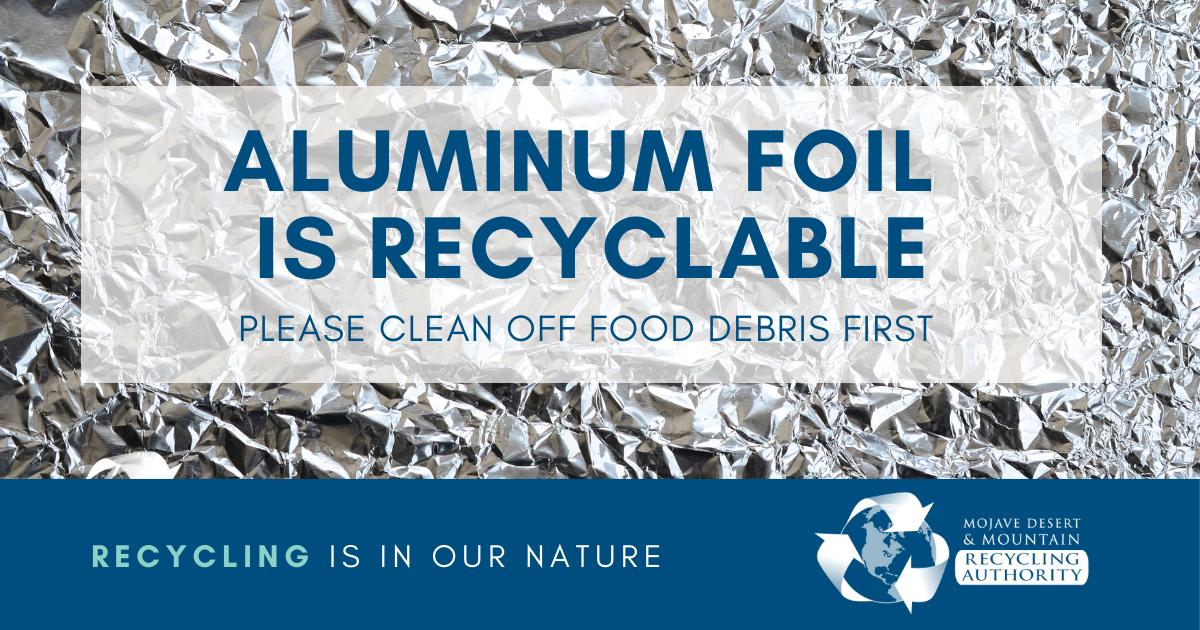 Aluminum Foil is Recyclable