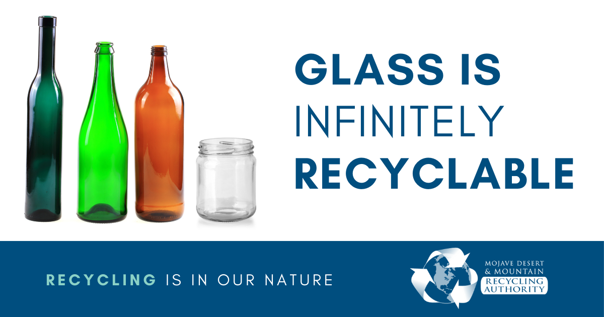Glass in infinitely recyclable