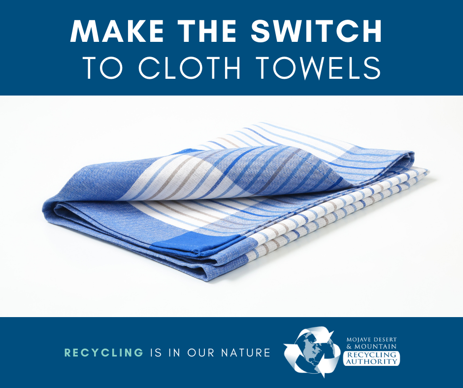 Make the switch to cloth towels