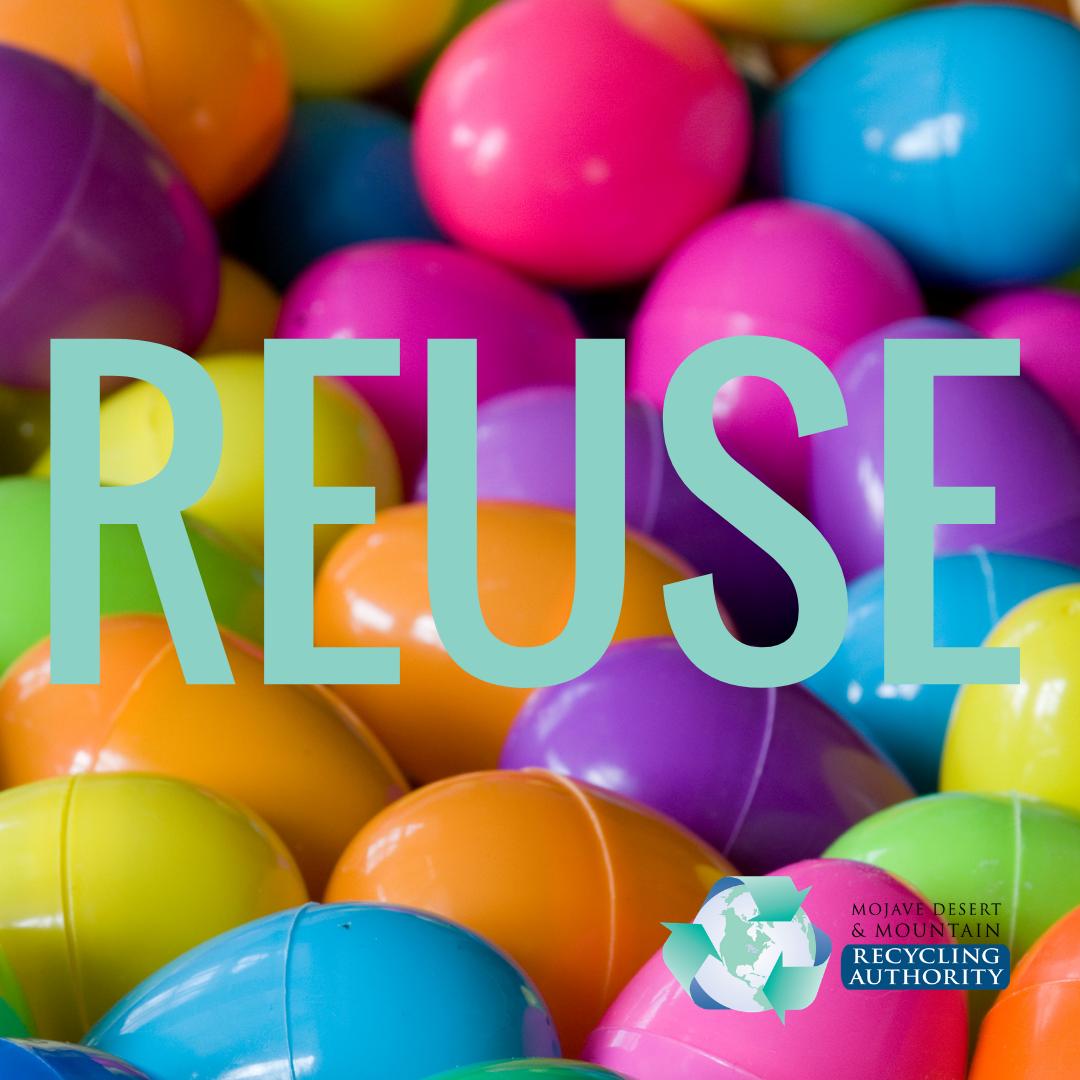 Reuse Plastic Easter eggs