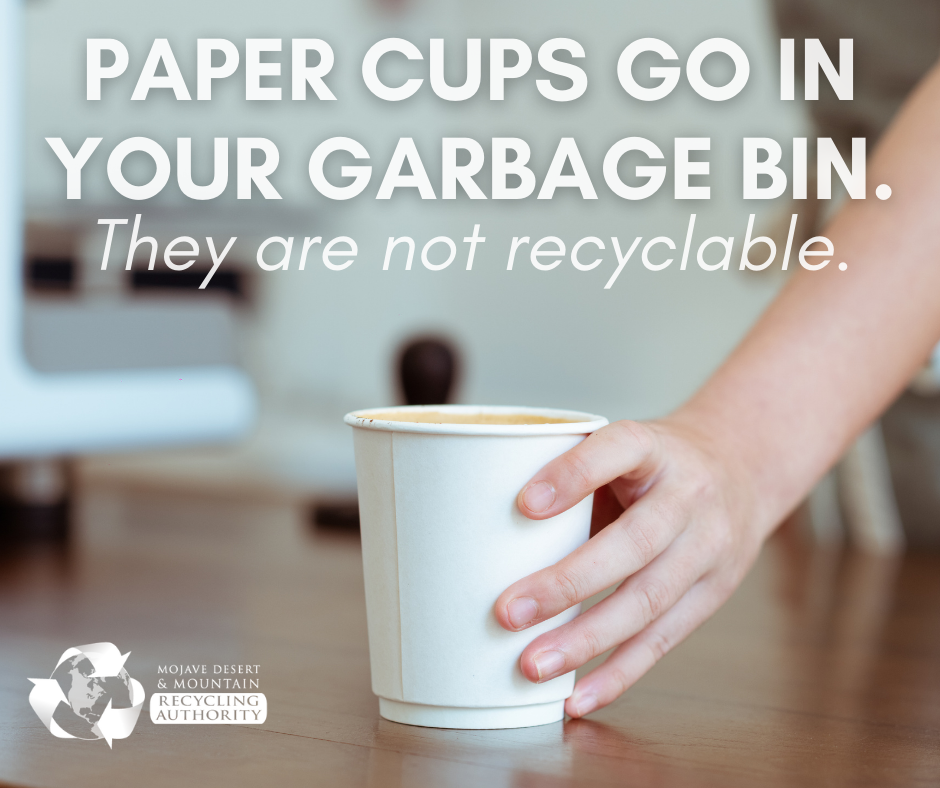 Paper Cups Go In Trash