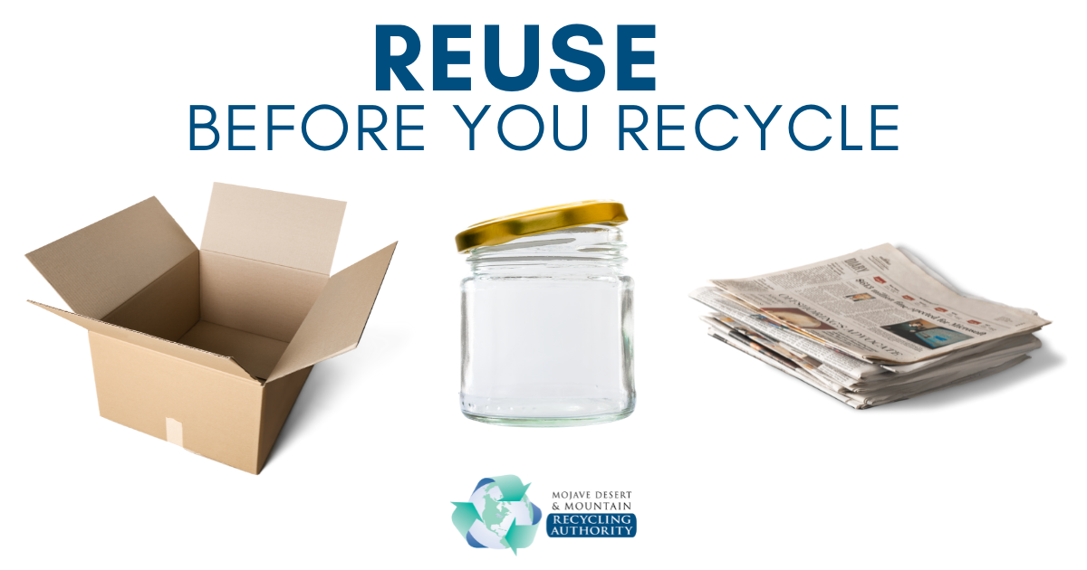 Reuse Before You Recycle